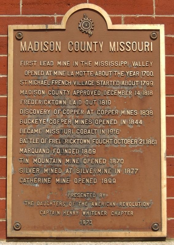 Madison County Missouri Marker image. Click for full size.