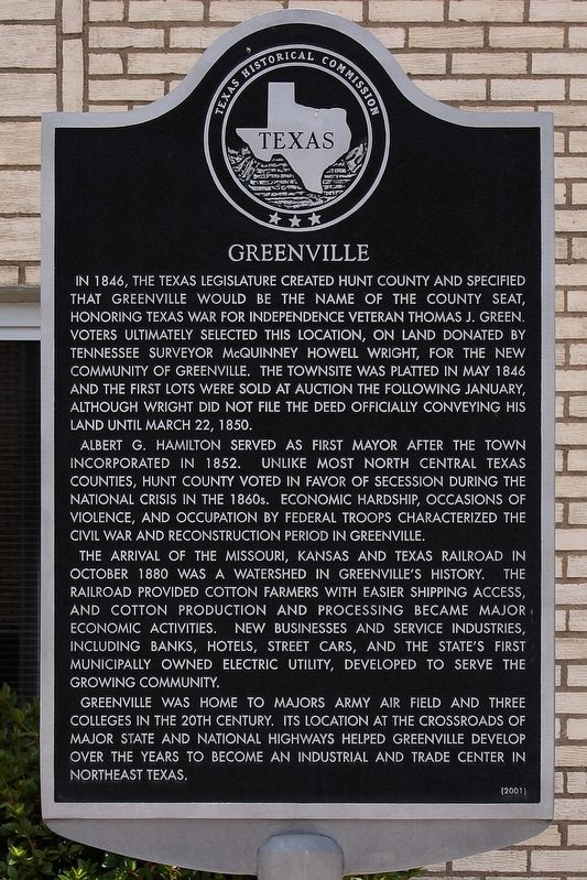 Greenville Marker image. Click for full size.