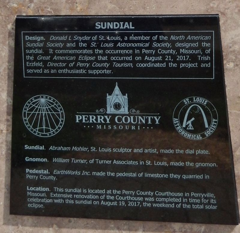 "Great American Eclipse of 2017 Sundial (<i>""Sundial"" panel</i>) image. Click for full size."