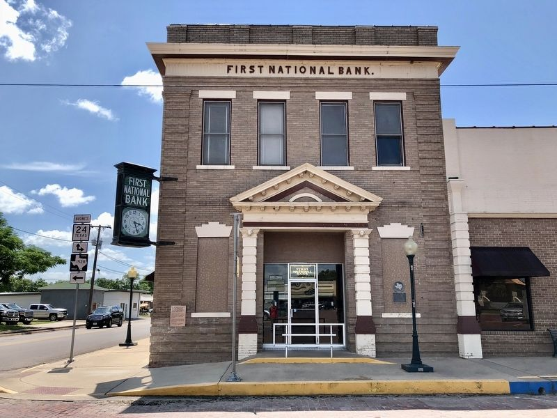 The First National Bank in Cooper. image. Click for full size.