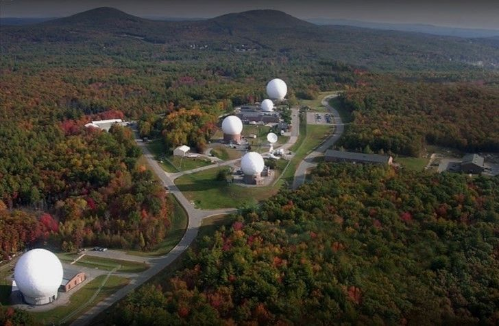 New Boston Space Command Tracking Station image. Click for full size.