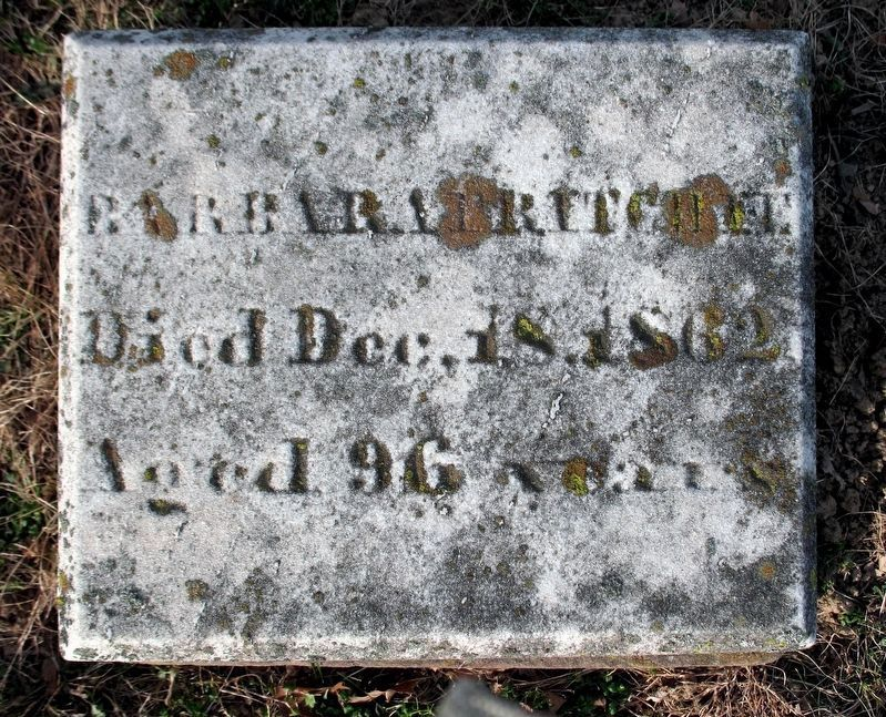Barbara Fritchie<br>Died Dec. 18, 1862<br>Aged 96 Years image. Click for full size.