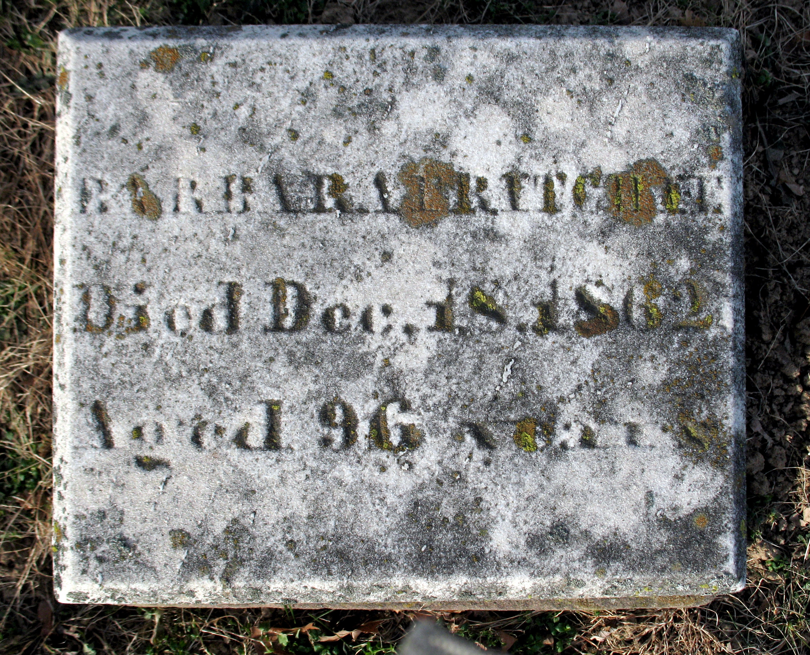 Barbara Fritchie<br>Died Dec. 18, 1862<br>Aged 96 Years