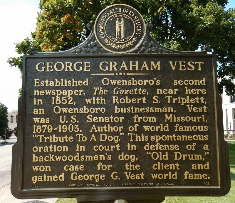 George Graham Vest (<i>side 1</i>) image. Click for full size.