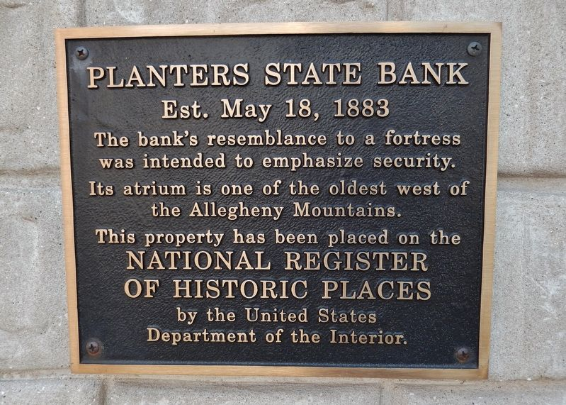 Planters State Bank Marker image. Click for full size.