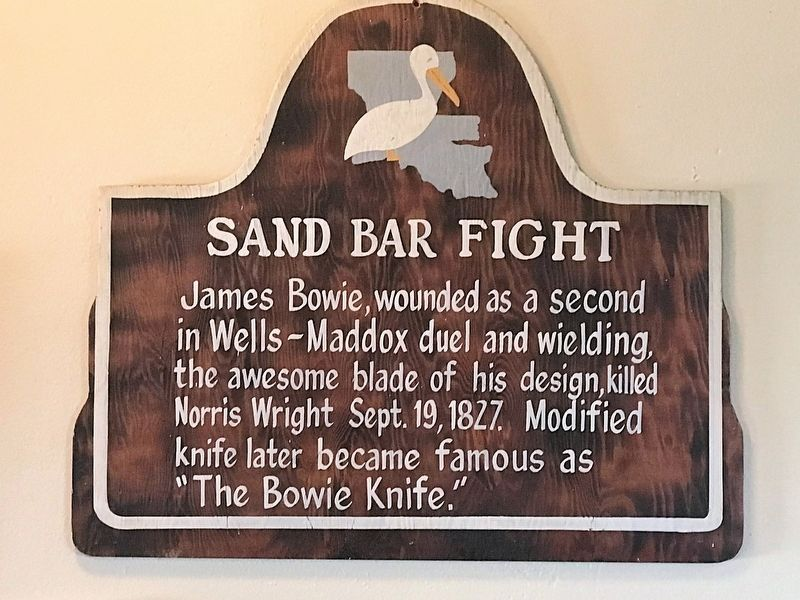 Sand Bar Fight Marker image. Click for full size.