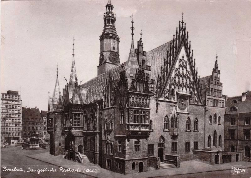 <i>Breslau, the old City Hall</i> image. Click for full size.