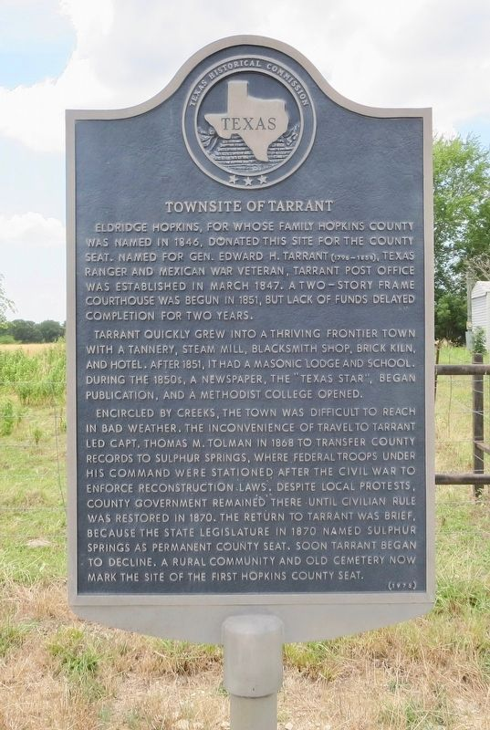Townsite of Tarrant Marker image. Click for full size.