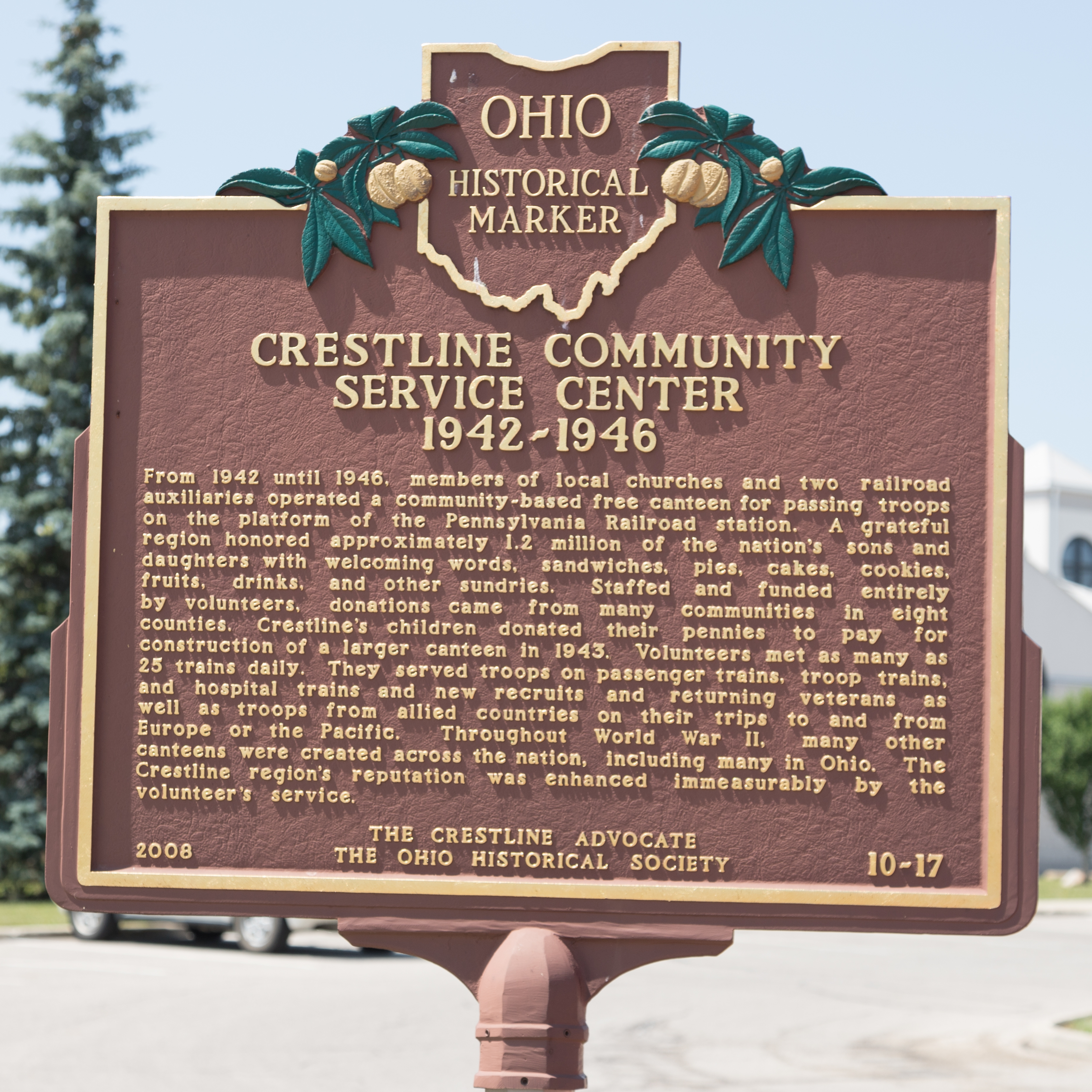 Crestline Community Service Center Marker