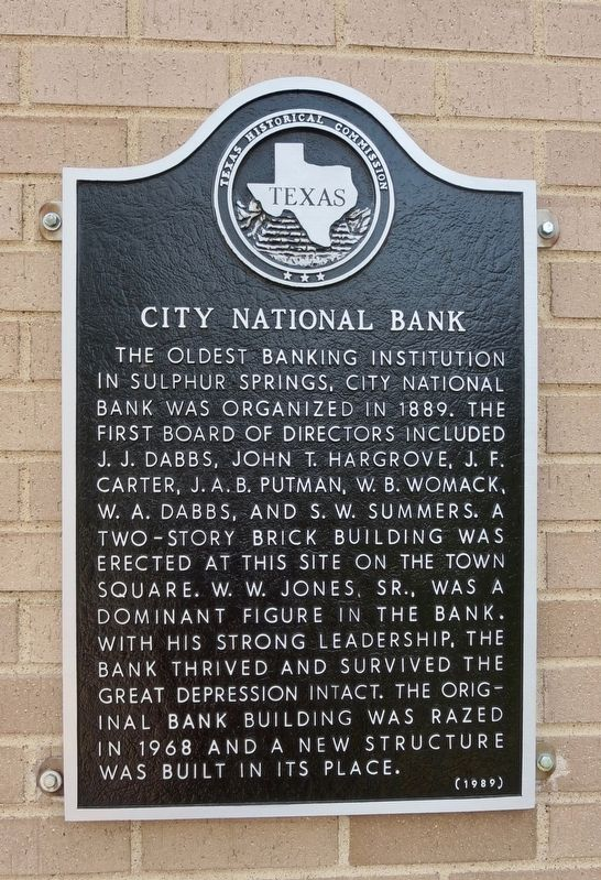 City National Bank Marker image. Click for full size.