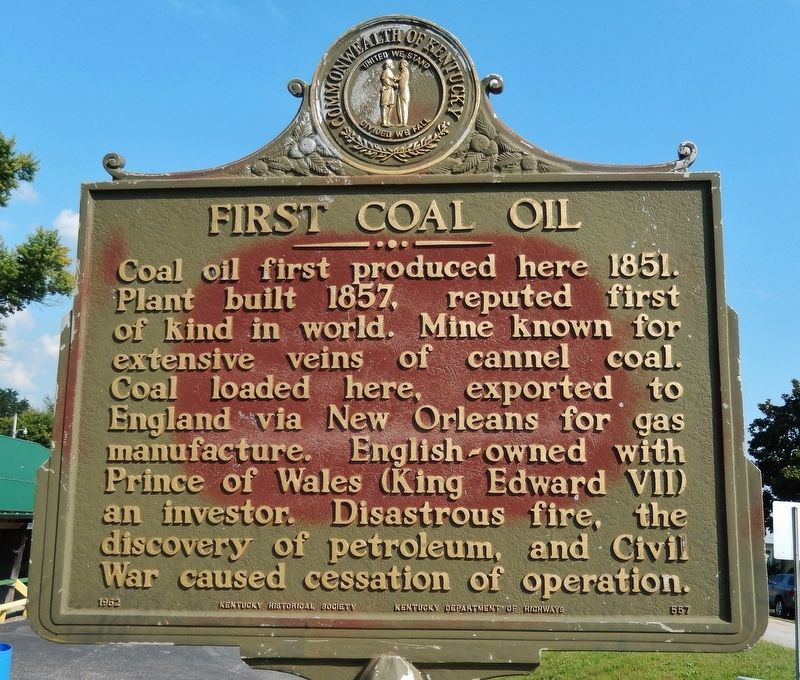 First Coal Oil Marker image. Click for full size.