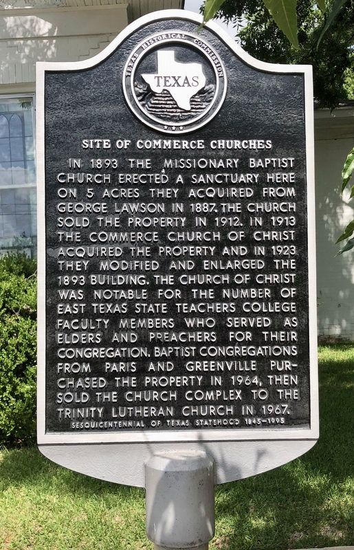 Site of Commerce Churches Marker image. Click for full size.