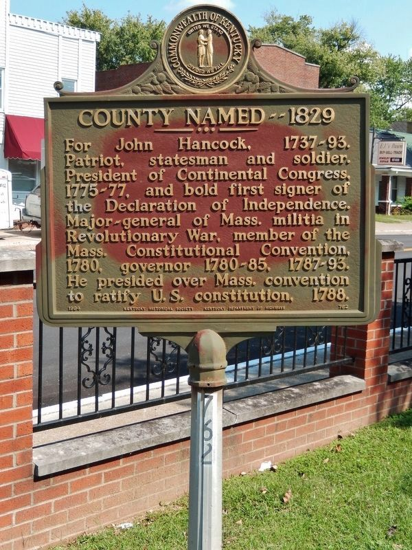 County Named - 1829 Marker (<i>tall view</i>) image, Touch for more information