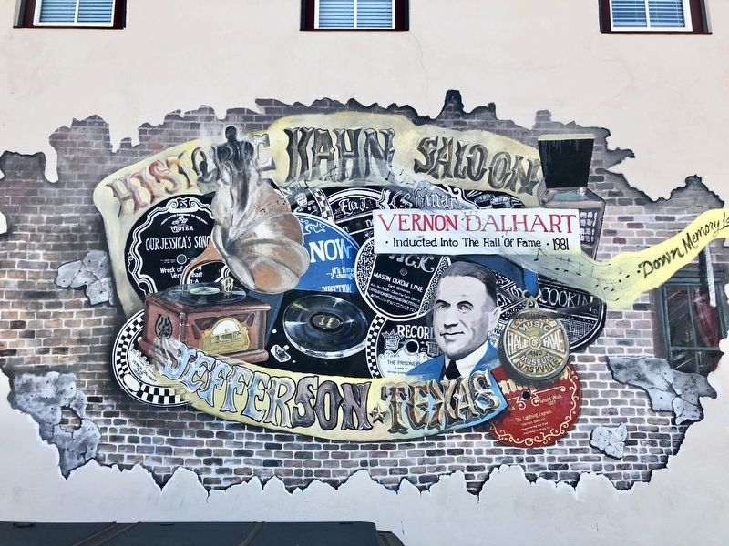 Kahn Saloon mural on side of saloon building. image. Click for full size.