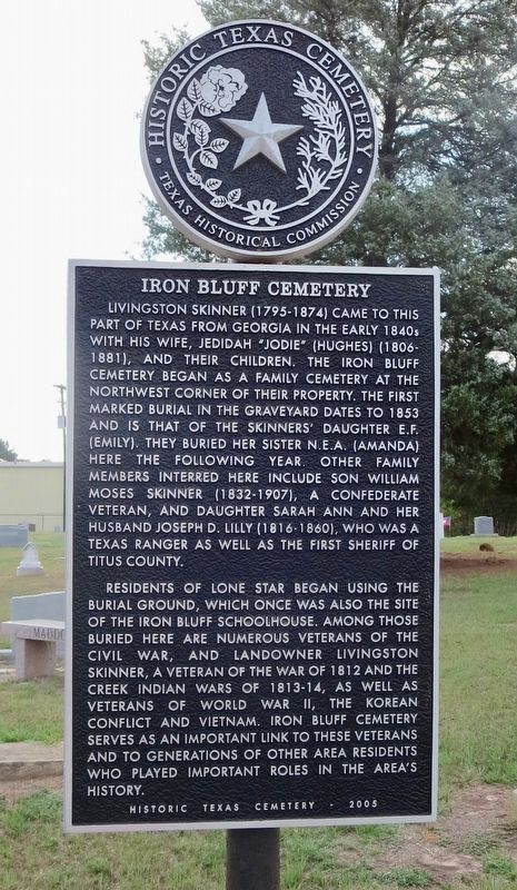 Iron Bluff Cemetery Marker image. Click for full size.