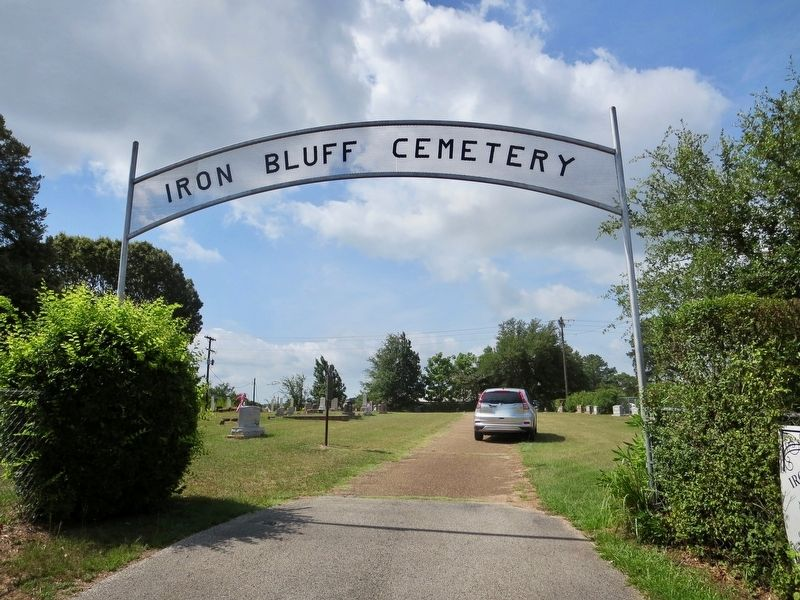 Iron Bluff Cemetery Marker, on left, just past cemetery entrance. image. Click for full size.