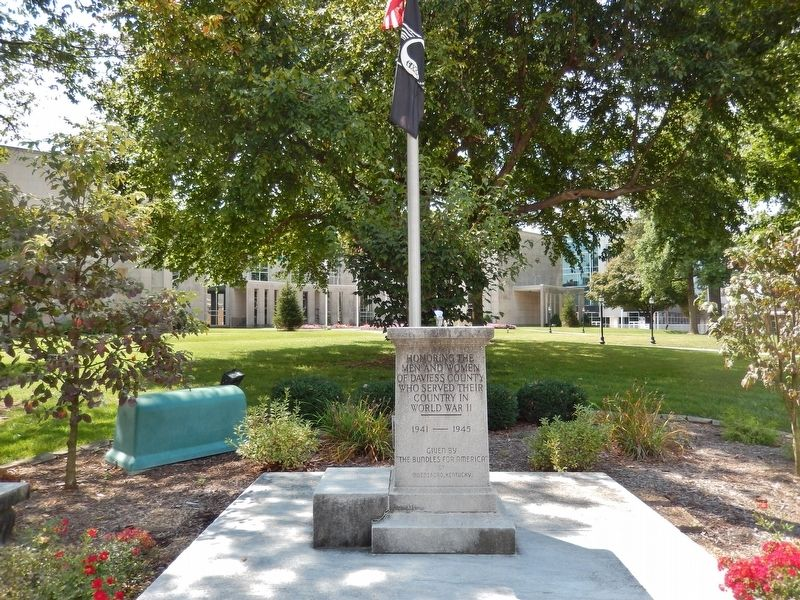 Daviess County World War II Memorial (<i>located near marker</i>) image. Click for full size.
