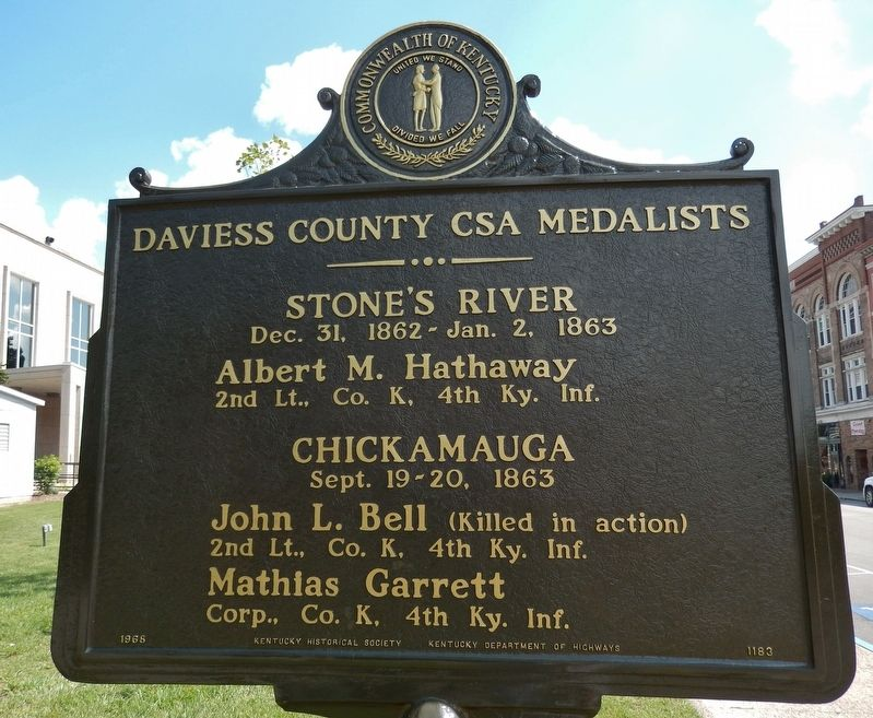 Confederate Congressional Medal of Honor Marker (<i>side 2</i>) image, Touch for more information
