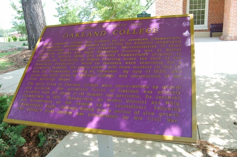 Oakland College Marker image. Click for full size.