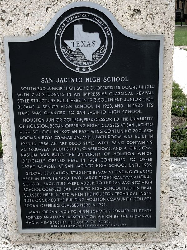 San Jacinto High School Marker image. Click for full size.