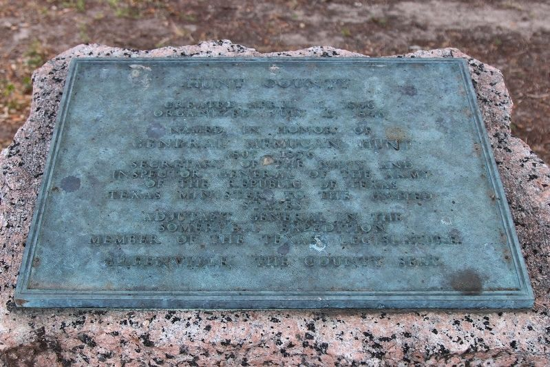 Hunt County Highway Marker Plaque image. Click for full size.