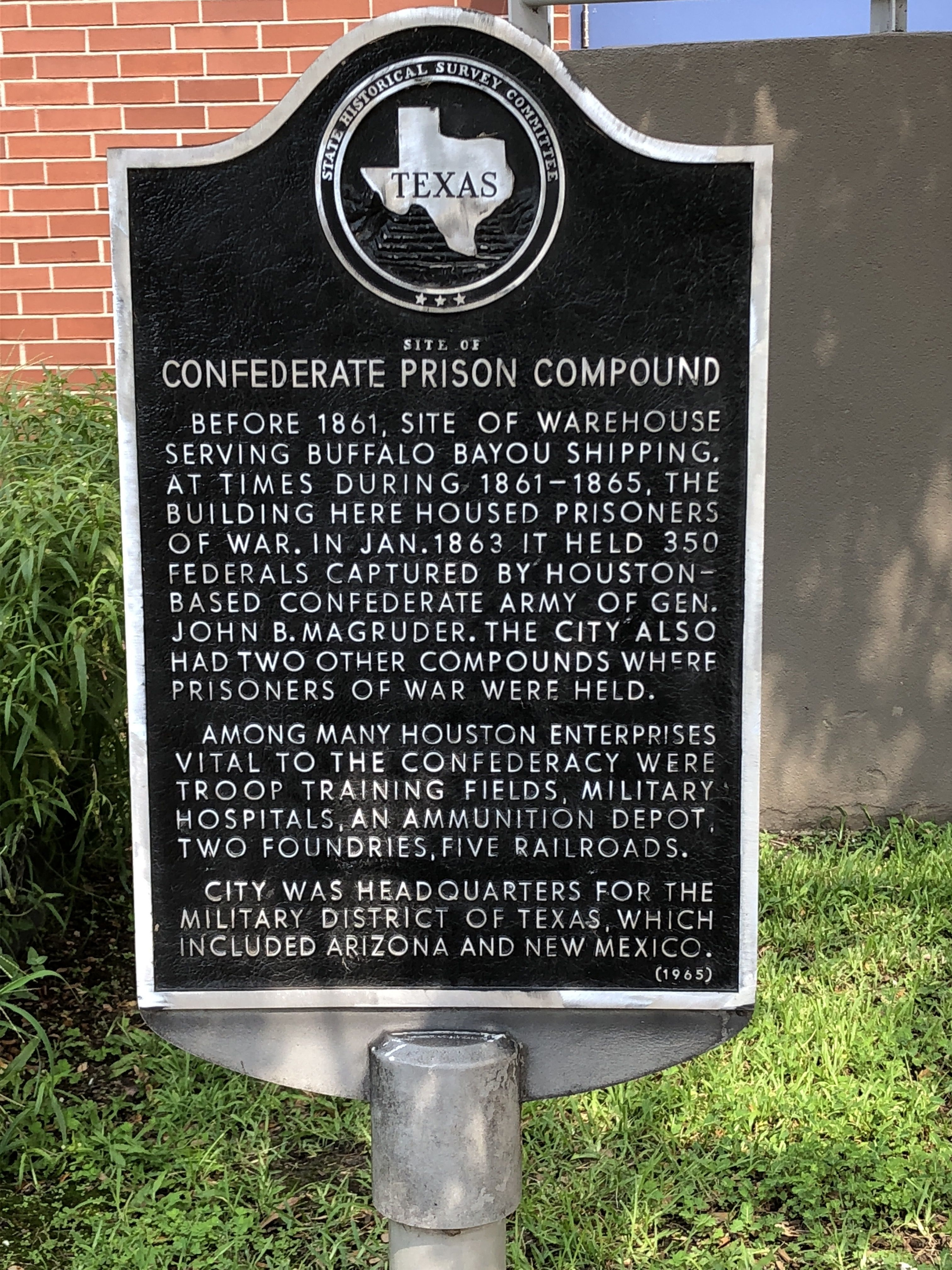 Site of Confederate Prison Compound Marker