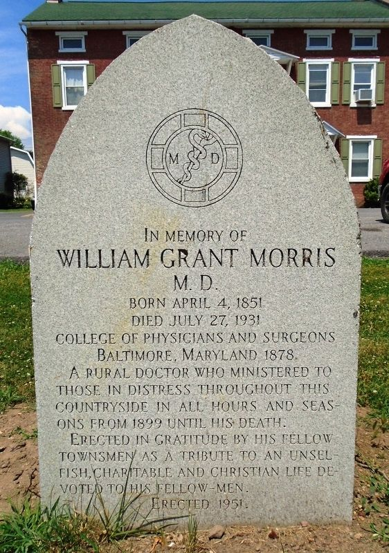 William Grant Morris M. D. Marker image. Click for full size.