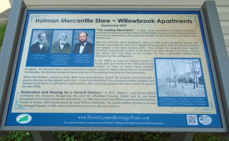 Holman Mercantile Store ~ Willowbrook Apartments Marker image. Click for full size.