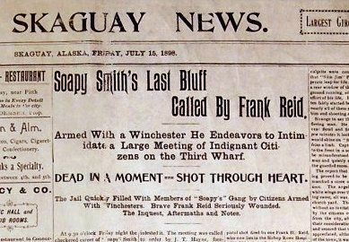 The <i>Skaguay News,</i> Friday, July 15, 1898 image. Click for full size.