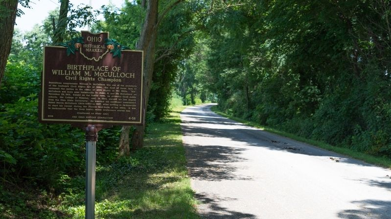 Birthplace of William M. McCulloch Marker image. Click for full size.