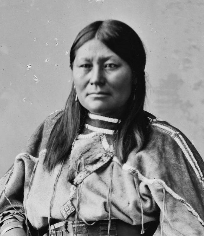 Second wife of Chief Ouray, Chipeta or White Singing Bird (1843 or 1844 – August 1924) image. Click for full size.