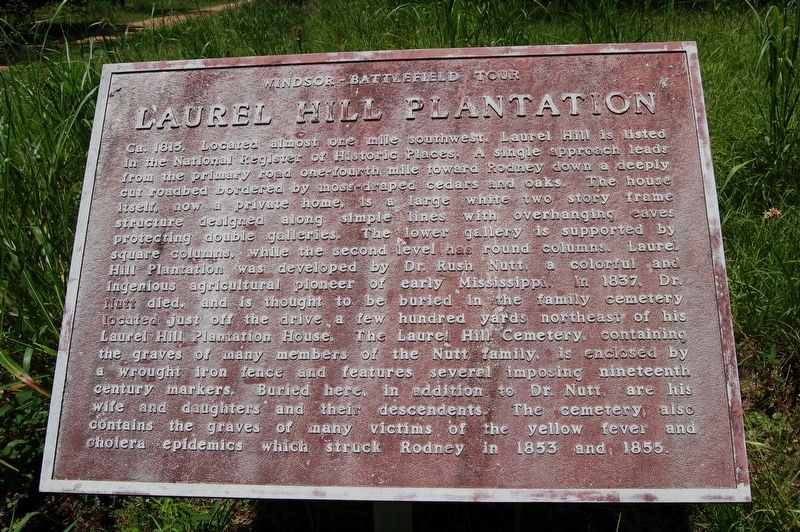Laurel Hill Plantation Marker image. Click for full size.