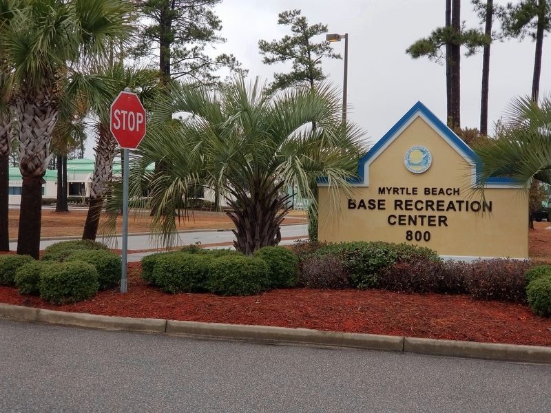 Recreation Center Signage image. Click for full size.