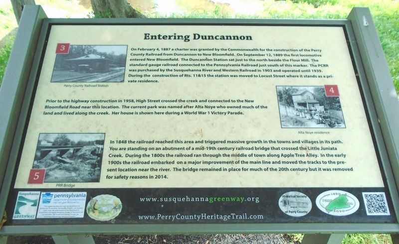 Entering Duncannon Marker image. Click for full size.