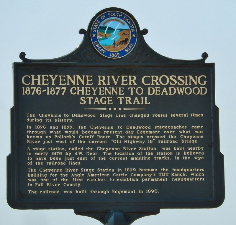 Cheyenne River Crossing Marker image. Click for full size.