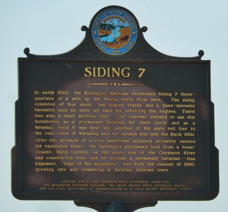 Siding 7 Marker image. Click for full size.