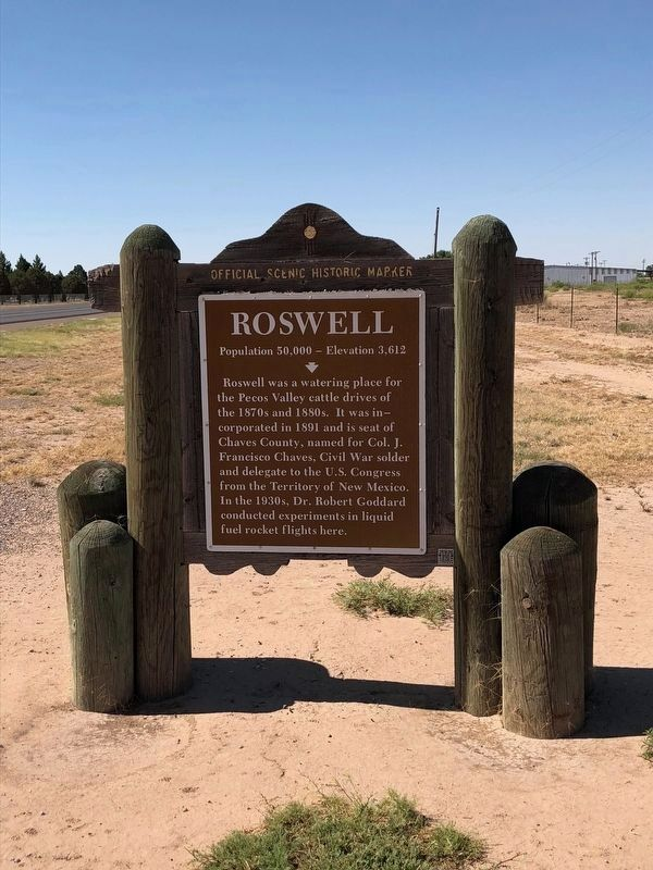 Roswell Marker image. Click for full size.