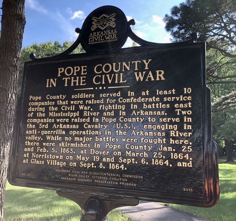 Pope County in the Civil War Marker image. Click for full size.