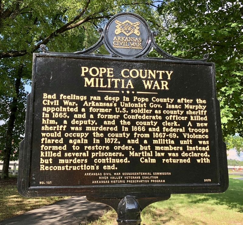 Pope County Militia War Marker image. Click for full size.