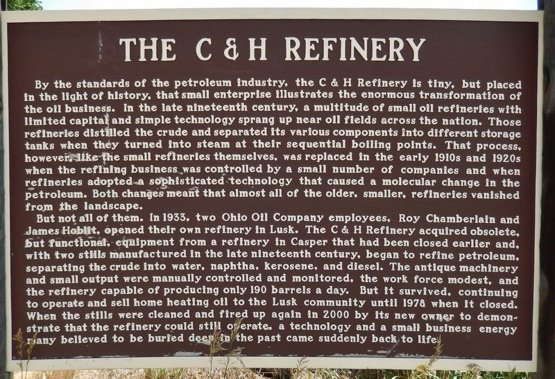 The C & H Refinery Marker image. Click for full size.