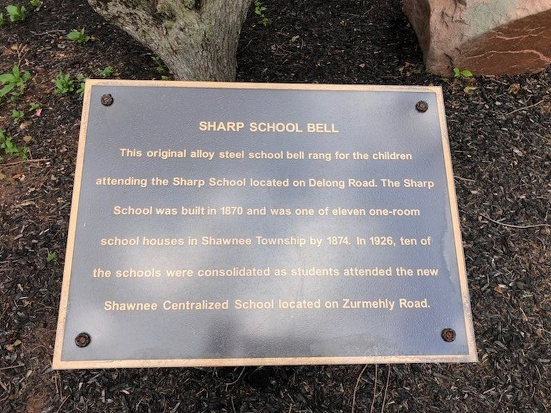 Sharp School Bell Marker image. Click for full size.