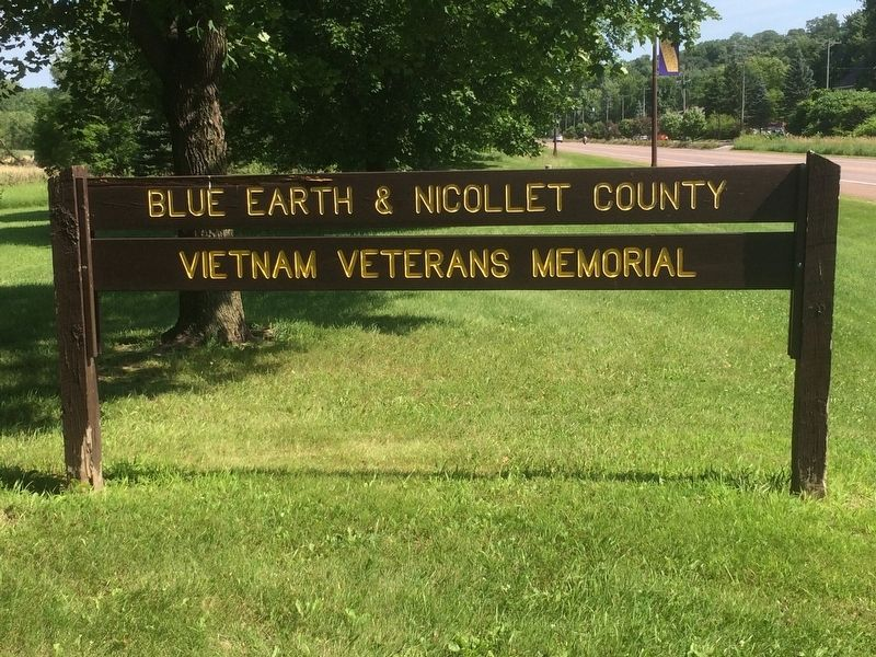 Blue Earth - Nicollet Counties Vietnam Veterans Memorial Sign image. Click for full size.
