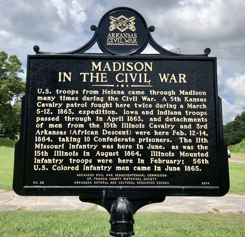 Madison in the Civil War Marker image. Click for full size.
