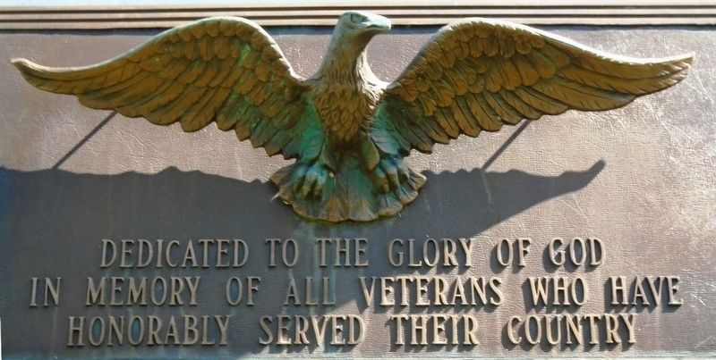 Veterans Memorial Dedication Marker image. Click for full size.