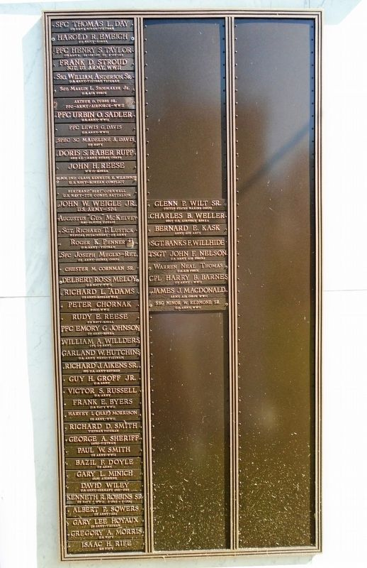 Veterans Memorial Honor Roll image. Click for full size.