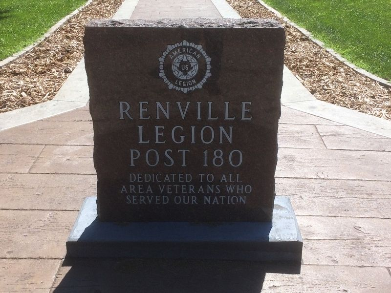 Renville Legion Post 180 Marker image. Click for full size.