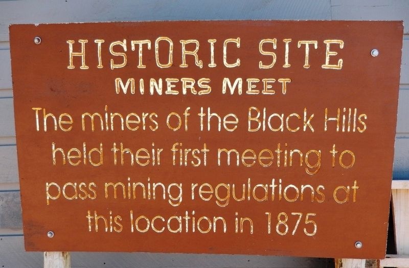 Miners Meet 1875 Marker image. Click for full size.