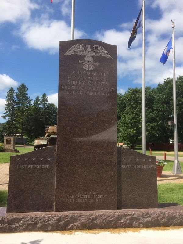 Sibley County, Minnesota Veterans Memorial Marker image. Click for full size.