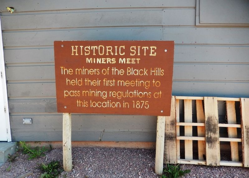 Miners Meet 1875 Marker (<i>wide view</i>) image. Click for full size.