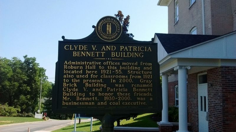 Clyde V. and Patricia Bennett Building Marker (Side 2) image. Click for full size.